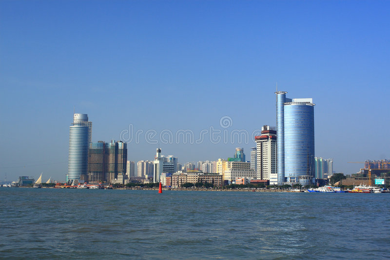 Scenery of Xiamen. It's the scenery of Xiamen. I take the photo on the Gulangyu stock image