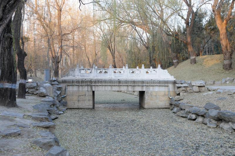 20191206 Scenery in Yuanmingyuan Heritage Park, Beijing, China. The scene of the Old Summer Palace Ruins Park in Beijing, China, was taken in December 6, 2019 stock image