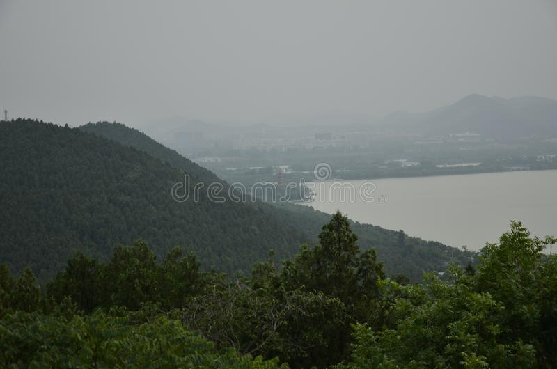 The scenery of Yunlong Mountain at Xuzhou,China in spring. stock photography