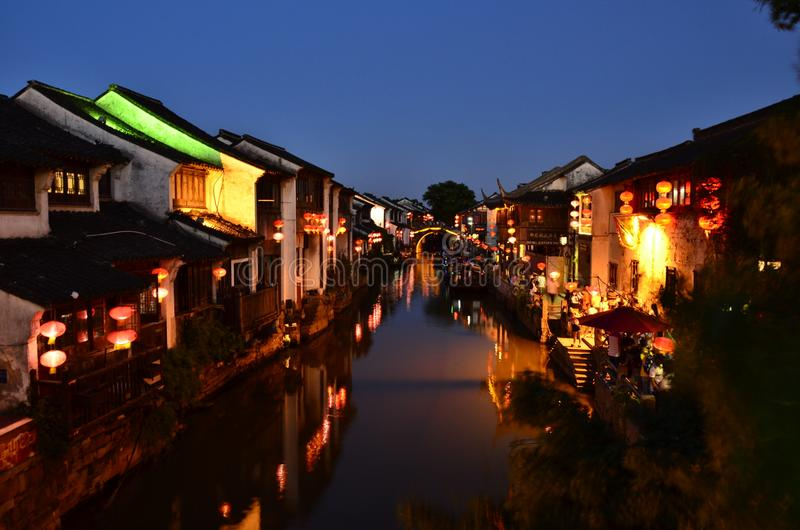 The scenery of Zhouzhuang at Suzhou,China in spring. stock photography