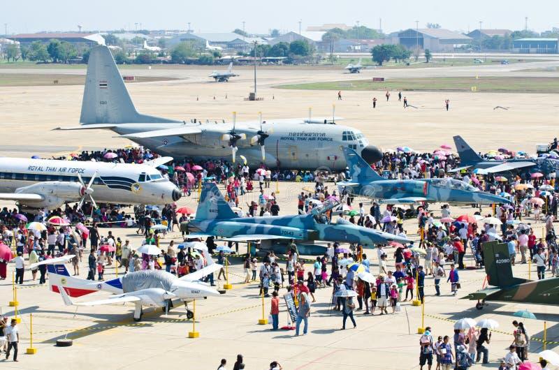 Scenes of aircraft. BANGKOK - JANUARY 14 : Scenes of aircraft on display at Don Muang Airshow, January 14, 2012, Don Muang Airport, Bangkok, Thailand royalty free stock images