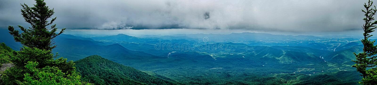 Scenes along appalachian trail in great smoky mountains stock images