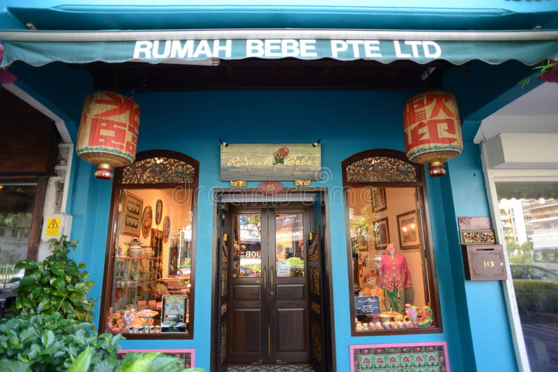 Scenes around Singapore - Peranakan Museum. May 2012, Katong, Singapore - Katong is a residential area in the east of Singapore near the seafront. Formerly stock photos