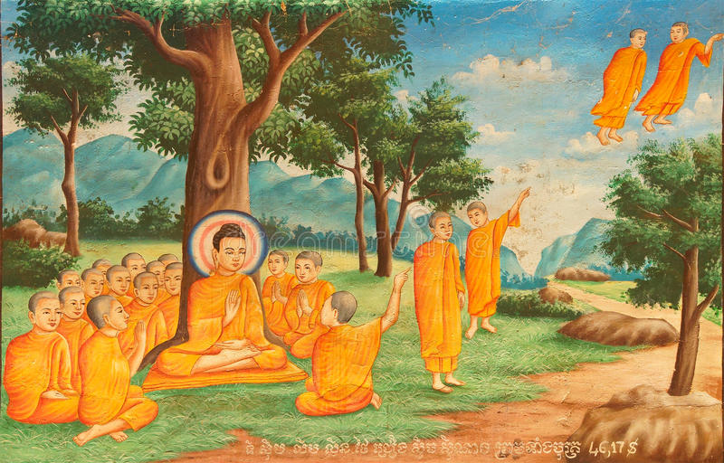 Scenes from Buddha's life royalty free stock image