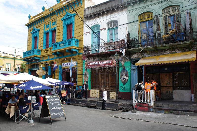 Scenes from Caminito. In La Boca, Buenos Aires, Argentina royalty free stock images