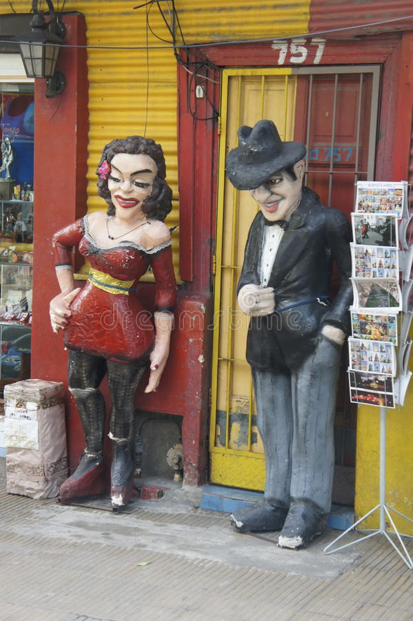 Scenes from Caminito. In La Boca, Buenos Aires, Argentina royalty free stock photography
