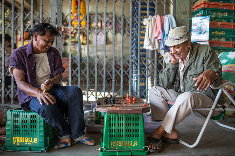 Scenes from the ordinary life in Bangkok stock photography