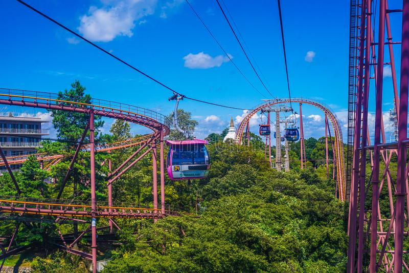 Scenes from the ropeway. Shooting location :  Chofu, Tokyo royalty free stock image