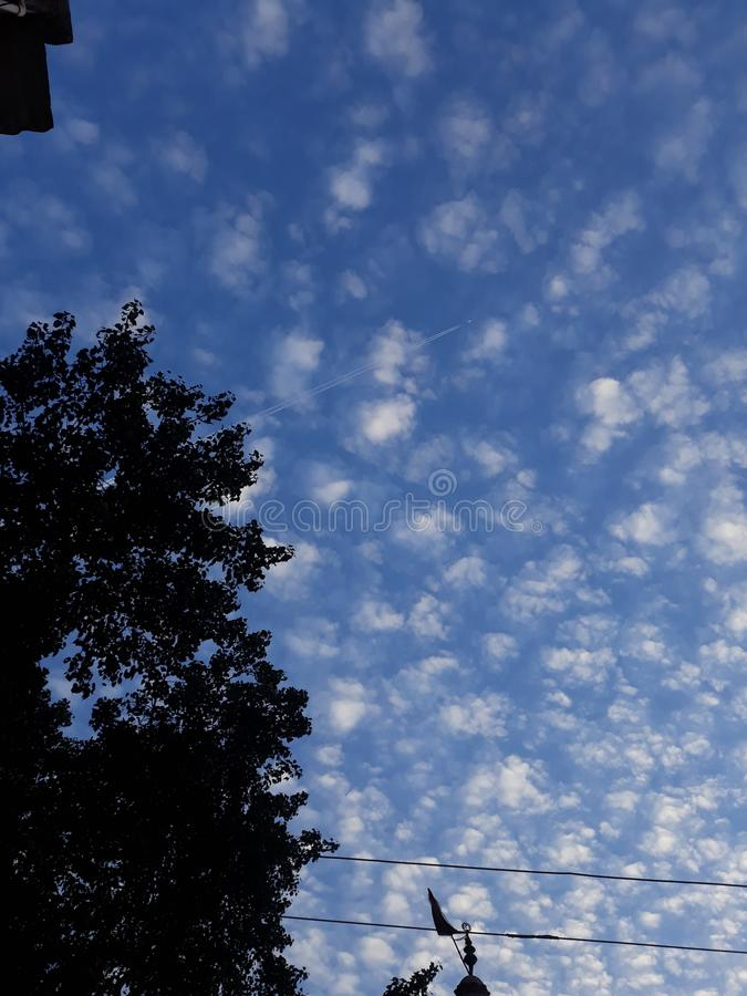 Sky scenes in the evening of india. It is the scenes of the sky in the evening of india state odisha special scenes rearly seen in the sky stock image