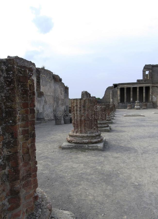 Scenes and Views of Ruins of Pompeii,, Italy. Scenes and Views of Ruins of Pompeii, the Italy essence stock image