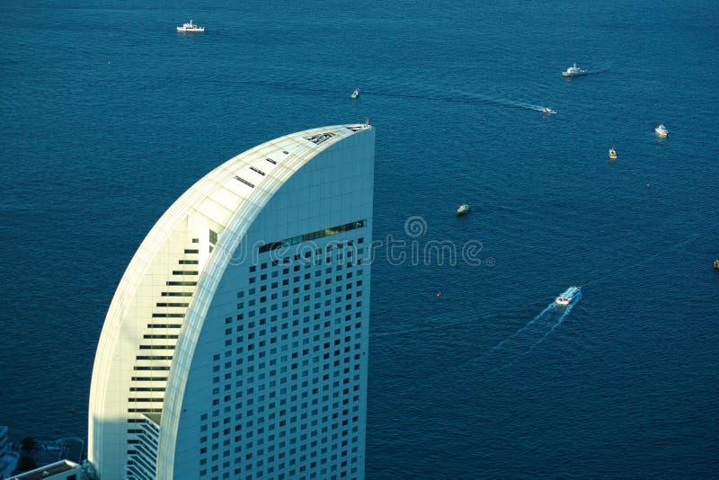 Scenes from the Yokohama Landmark Tower. Shooting location : Tokyo metropolitan area stock photo