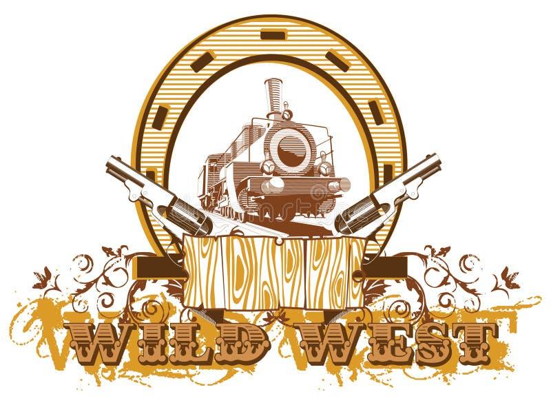 Scenetta ad ovest selvaggia II royalty illustrazione gratis