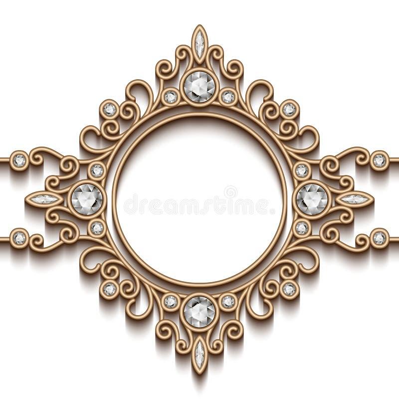 Scenetta dei gioielli dell'oro royalty illustrazione gratis