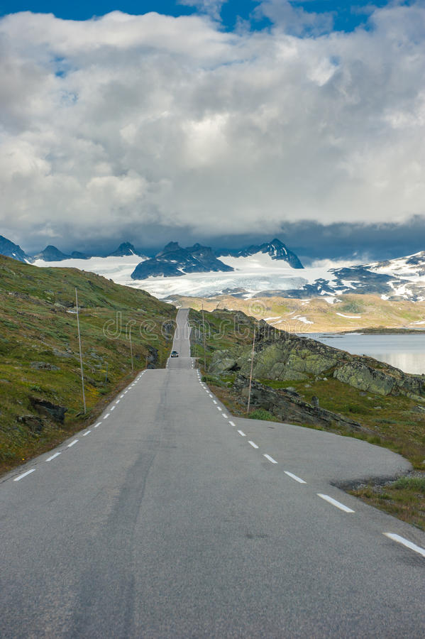 Scenic 55 Road, Norway Stock Photo