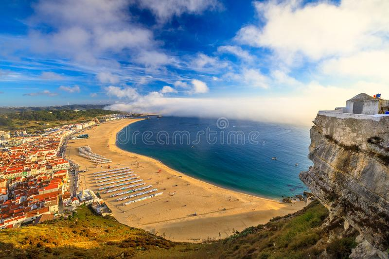 Nazare Portugal aerial stock images