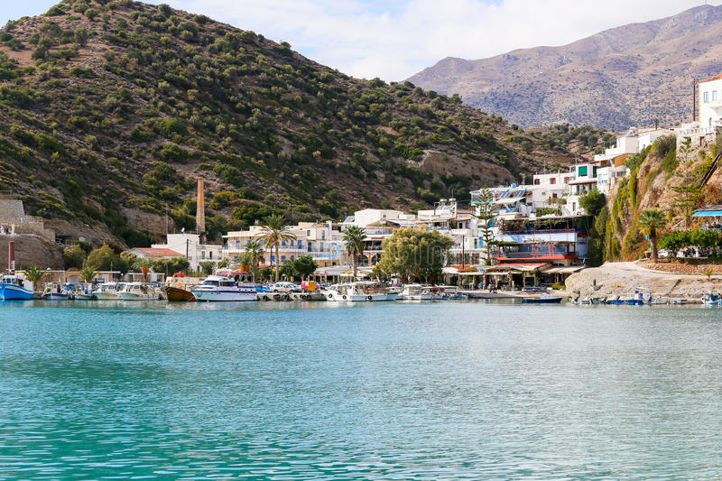 Scenic Agia Galini royalty free stock images