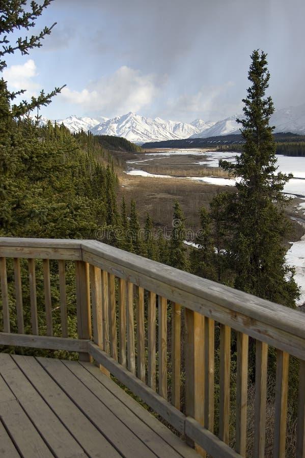 Download Scenic Alaskan Deck stock image. Image of overlook, park - 28440889