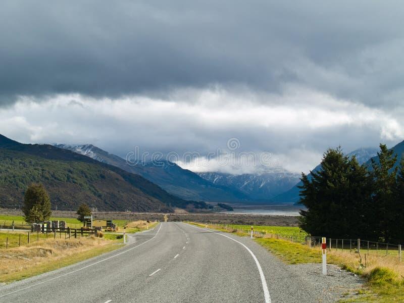 Scenic Alpine road stock images