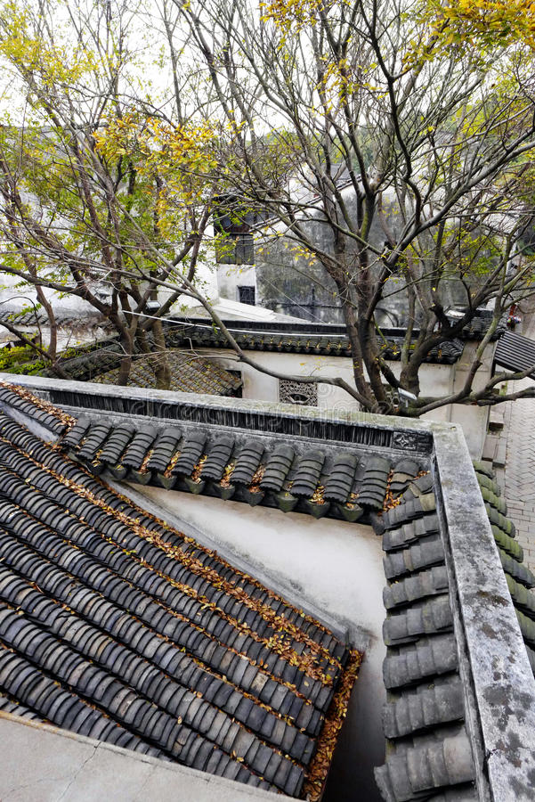 Scenic ancient China town view stock photography