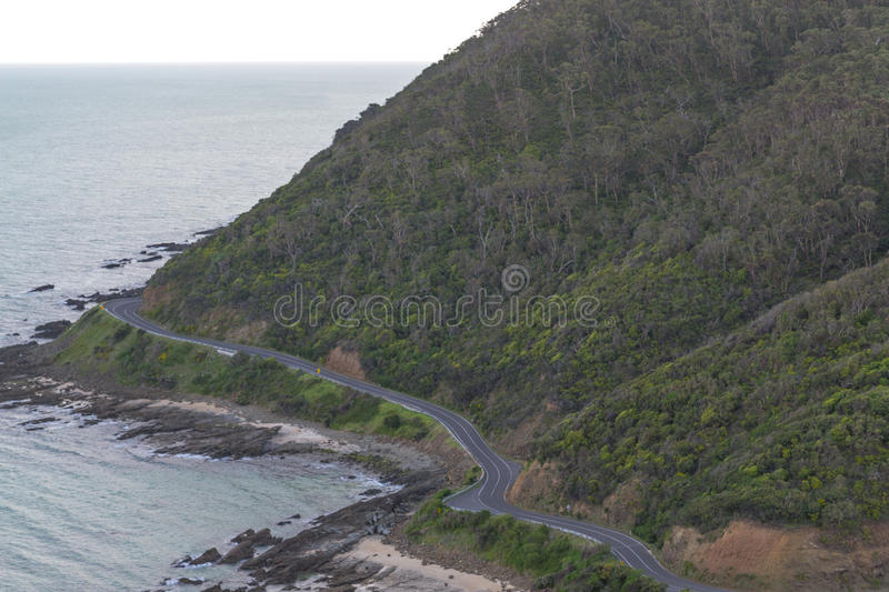 Scenic area of the Great Ocean Road. Great Ocean Road is a 243km long road built by retired soldiers royalty free stock photos