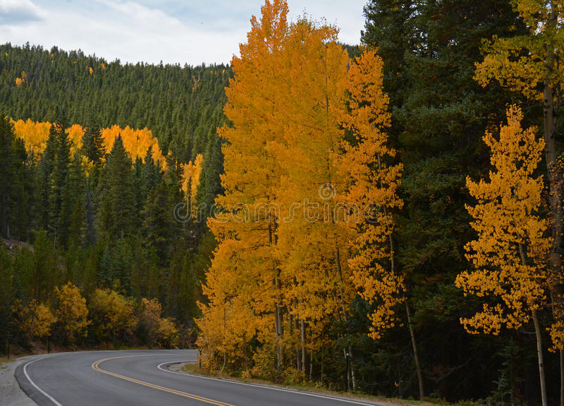 Scenic autumn drive to Mount Evans in Colorado royalty free stock photos