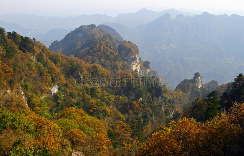 Scenic autumn landscape in Wudang mountains, Hubei, China royalty free stock photo