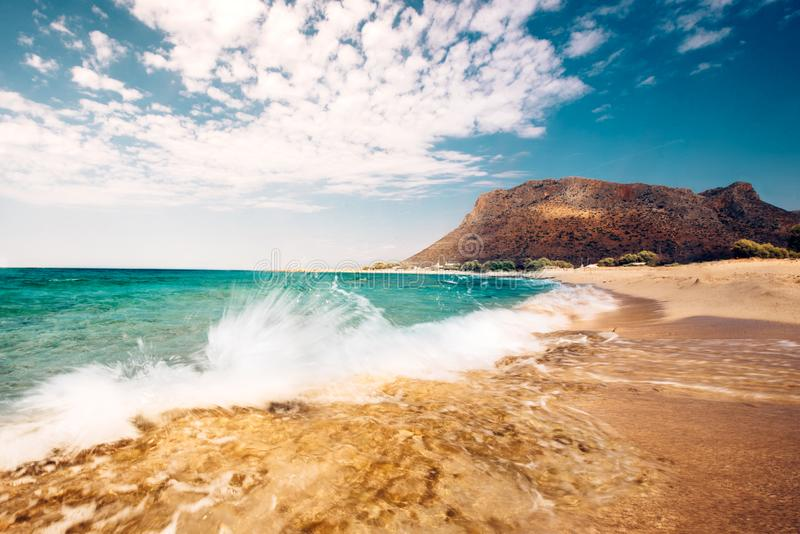 scenic beach landscape, seaside details with splash of waves in the rocks stock images