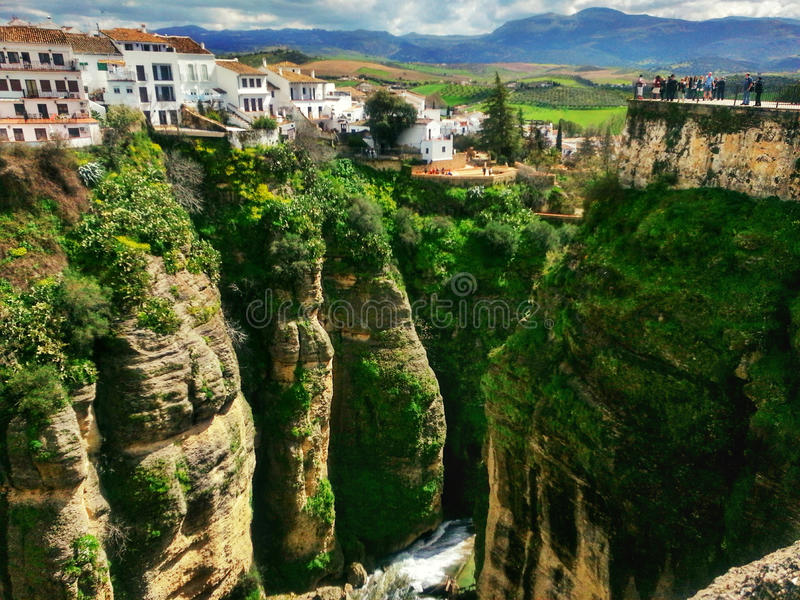 Scenic and Beautiful Ronda, Spain stock photography
