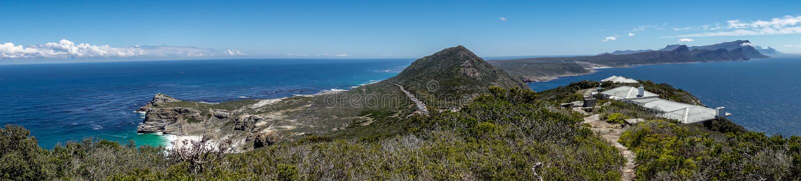 Scenic beauty Panorama of Cape of Good Hope stock images