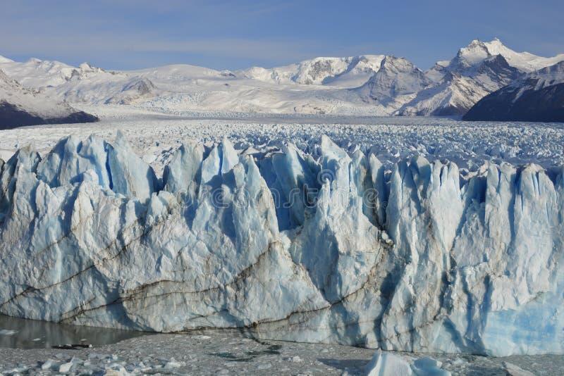 Scenic beauty travel destinations Perito moreno glacier calafate Argentina winter frozen lake snowy mountains stock photos