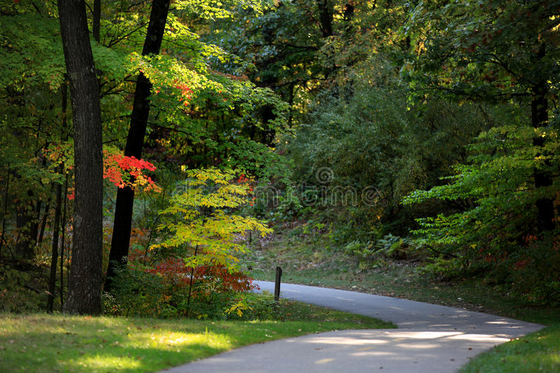 Scenic bike trail royalty free stock photography