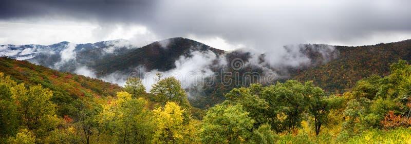 Scenic Blue Ridge Parkway Appalachians Smoky Mountains autumn La. Ndscape stock images