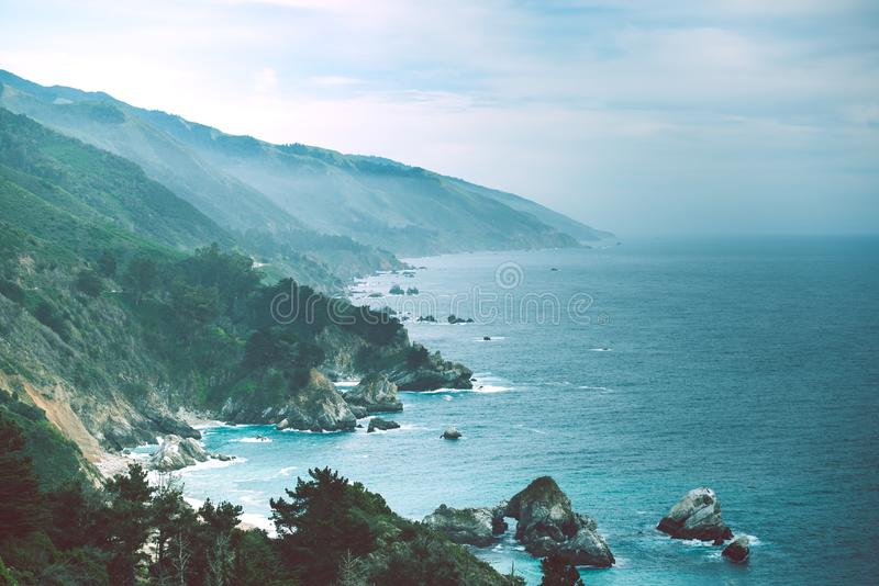 Scenic California Pacific Coast. In Spring. United States royalty free stock images