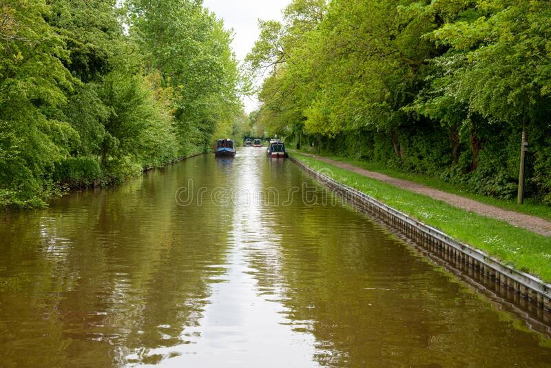 Llangollen canal scenery stock photos