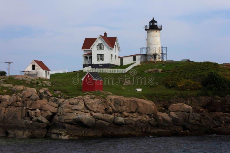 Cape Neddick `Nubble` Lighthouse, York, Maine Stock Image