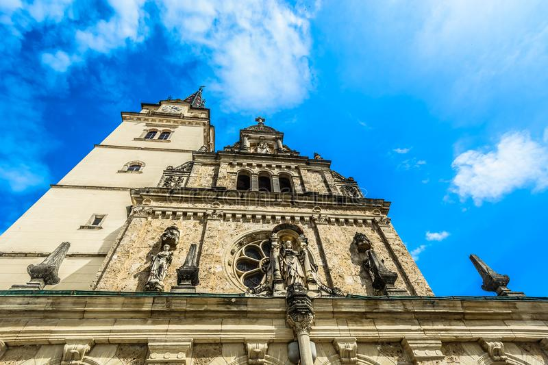 Cathedral view in Marija Bistrica, Croatia. royalty free stock photos