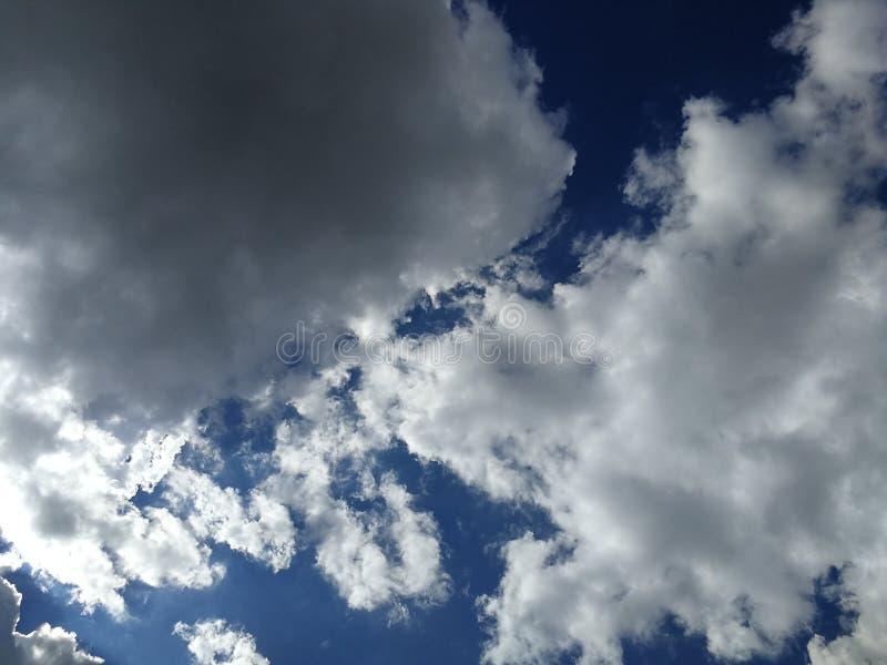 Scenic clouds and blue sky in rainy season, the rain is coming. Dramatic sky in rainy season royalty free stock photo