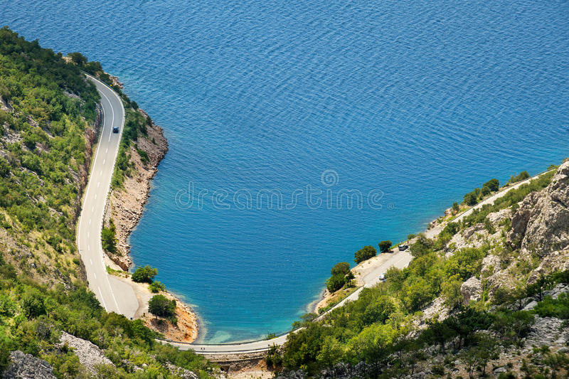 Scenic coastal route royalty free stock images