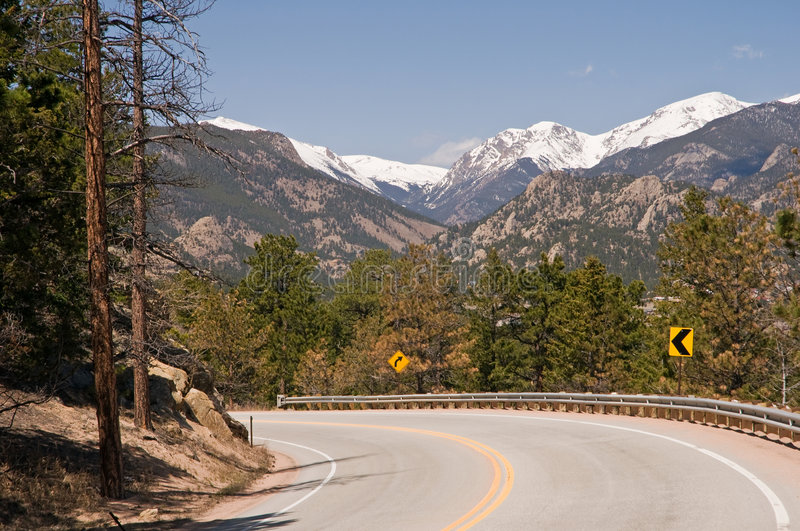 Scenic Colorado highway royalty free stock images