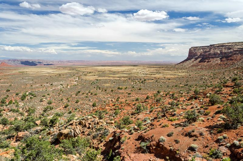 Scenic desert landscape in the US Southwest. Scenic colorful desert landscape in the US Southwest royalty free stock photos
