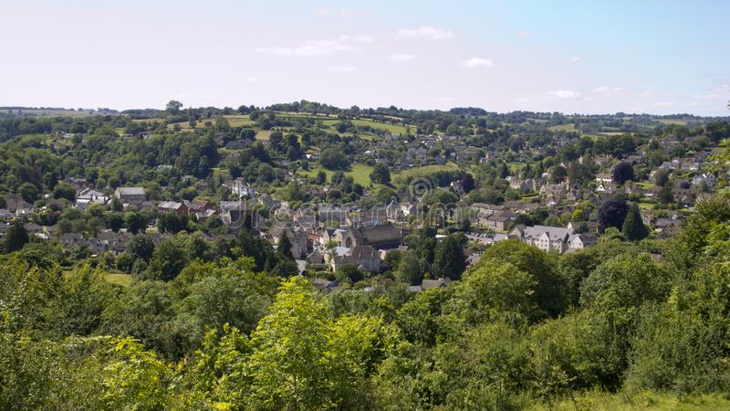 Scenic Cotswolds - Nailsworth stock image