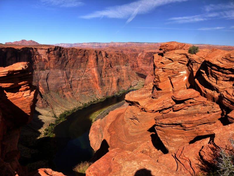 US National Parks, Arizona, Grand Canyon National Park. Scenic deep canyon and Colorado River, Grand Canyon National Park. Natural attraction in Arizona. U.S royalty free stock images