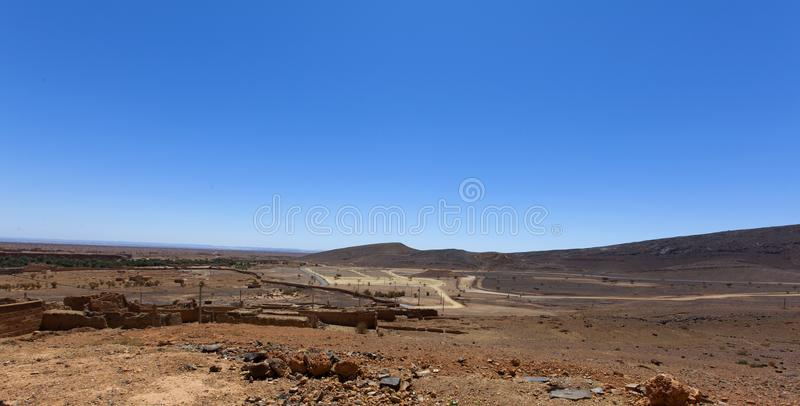 Scenic desert landscape in Morocco royalty free stock photography