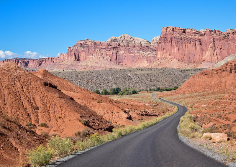 Scenic Drive, Capitol Reef National Park stock photo