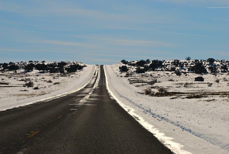Scenic Drive Through The Desert Royalty Free Stock Photo