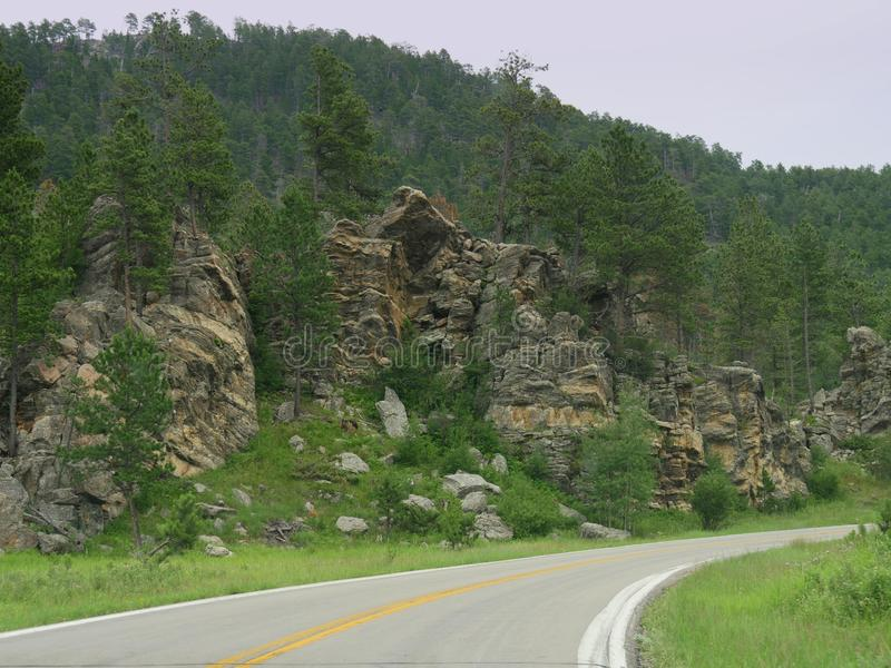 Scenic drives on Needles Highway, Custer State Park, South Dakota stock photography