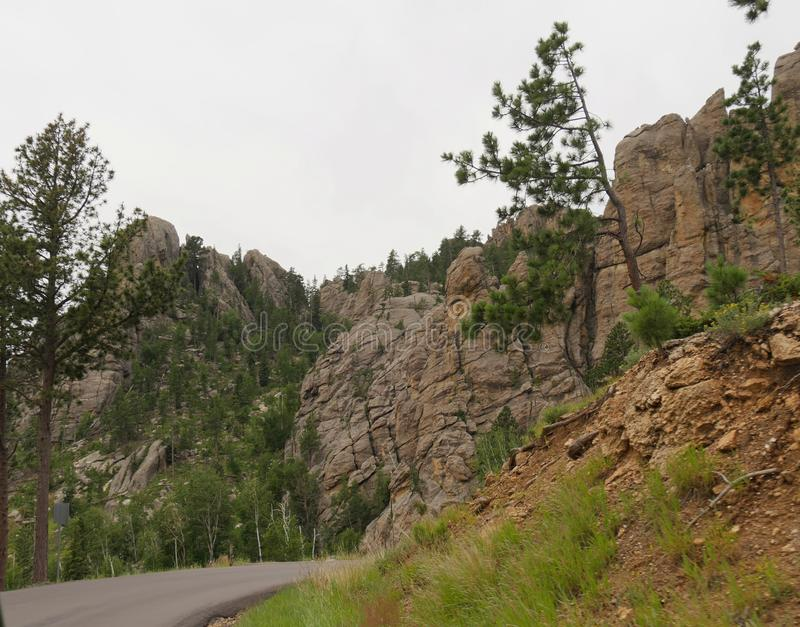 Scenic drives on Needles Highway, Custer State Park, South Dakota royalty free stock photography