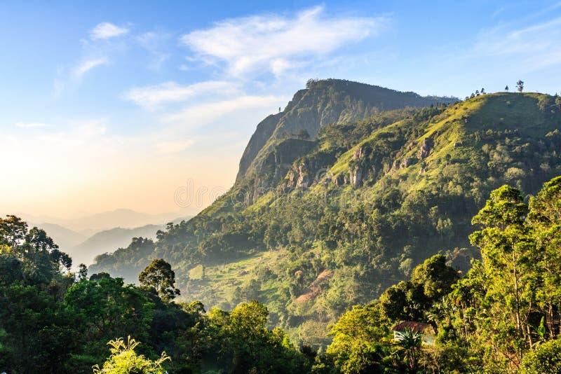 Scenic Ella Gap. Hill COuntry, Sri Lanka stock image