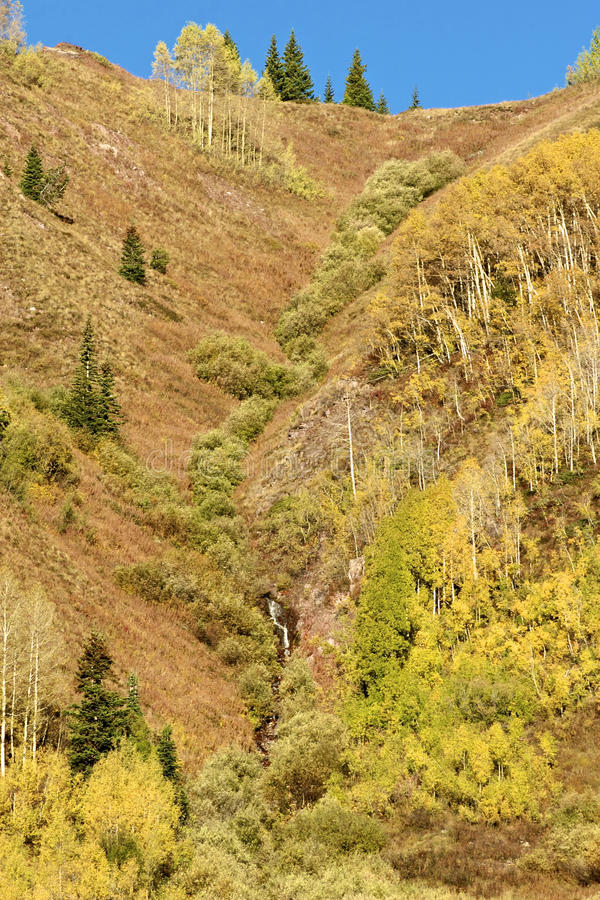 Scenic Fall Mountainside Royalty Free Stock Images