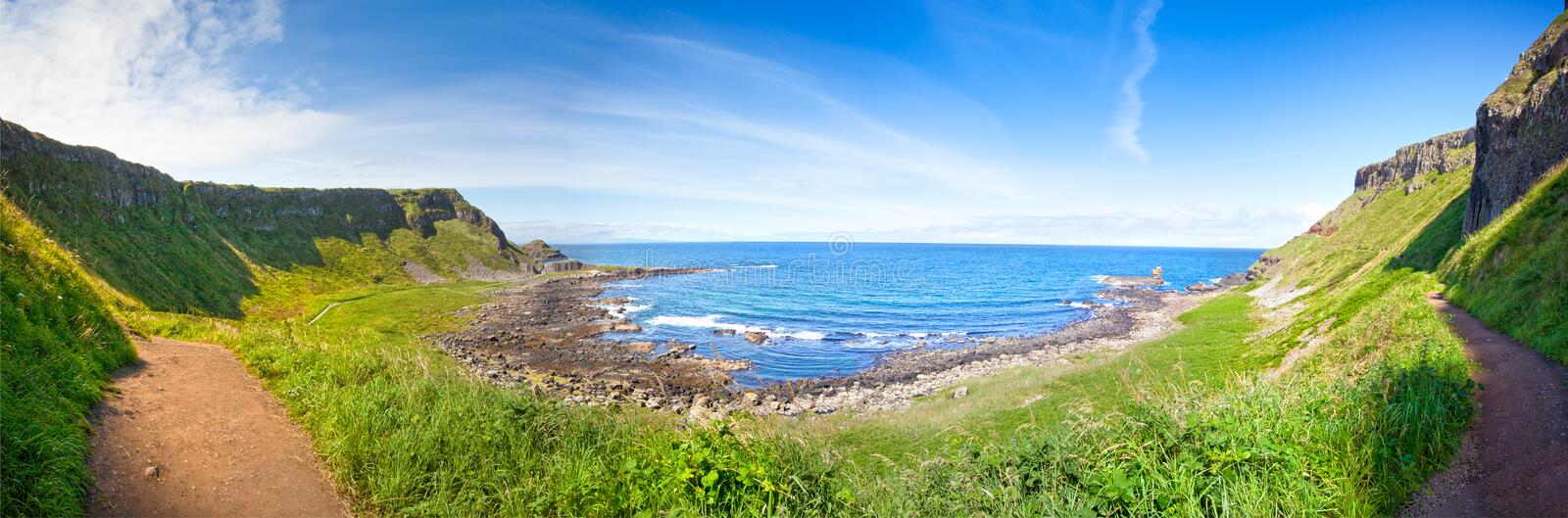 Scenic Footpath. Giant's Causeway. royalty free stock image
